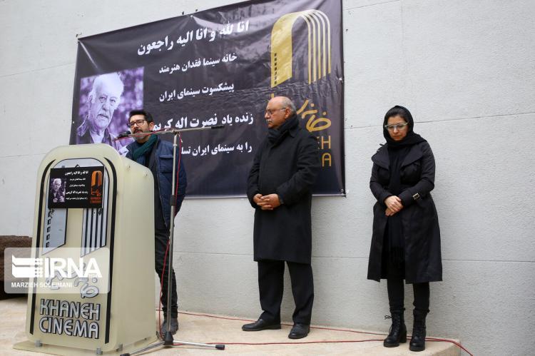 تصاویر تشییع پیکر نصرتالله کریمی,عکس های تشییع پیکر نصرتالله کریمی,تصاویر پیکر هنرمند سینمای ایران