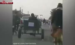 فیلم/ اعتراض یک اصفهانیِ الاغسوار به گرانیِ بنزین