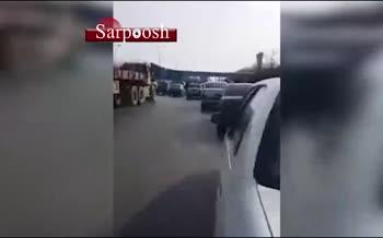 فیلم/ سقوط پل عابر پیاده در مشهد