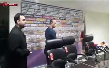 یک خبرنگار عامل برگزار نشدن نشست خبری گل محمدی + فیلم