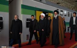 تصاویر افتتاح متروی شهر جدید هشتگرد,عکس های حسن روحانی در افتتاحیه مترو,عکس های افتتاح متروی کرج به هشتگرد