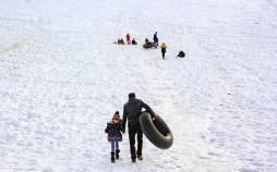 تصاویر تفریحات برفی در بام ایران,عکس های برف بازی در ایران,تصاویر برف در استان چهارمحال و بختیاری