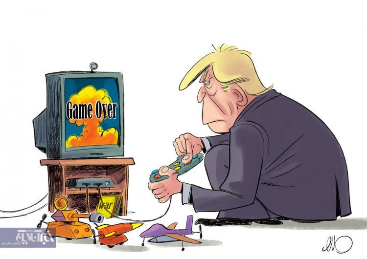 کاریکاتور حمله های دونالد ترامپ