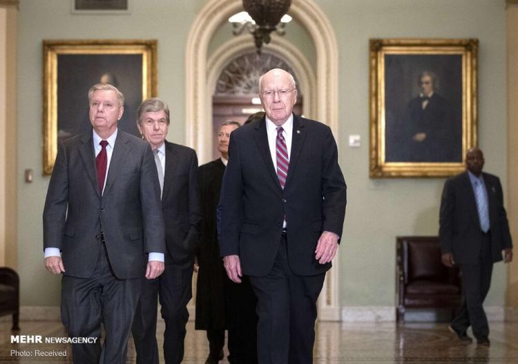 تصاویر آغاز استیضاح ترامپ در کنگره,عکس های استیضاع ترامپ,تصاویر سنای آمریکا