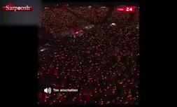 فیلم/ جشن کریسمس ۳۰هزار نفری هواداران یونیون برلین در استادیوم