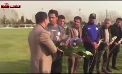 فیلم/ مراسم معارفه فرهاد مجیدی در تمرین امروز استقلال