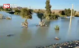 فیلم/ تصاویر هوایی از مناطق سیل زده هرمزگان