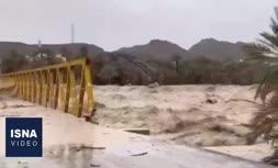 فیلم/ طغیان رودخانه در سیستان و بلوچستان در پی بارش باران اخیر