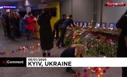 فیلم/ ادای احترام به تیم پروازی هواپیمای اوکراینی ساقط شده در تهران