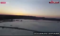 فیلم/ تصاویر هوایی از جزیره غرقشده جنوب ایران