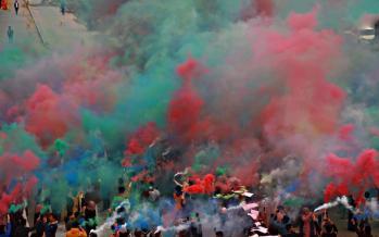 تصاویر دانشجویان دانشگاه کوفه,عکس های اعتراضات دانشجویان دانشگاه کوفه,تصاویر اعتراضات دانشجویان دانشگاه کوفه