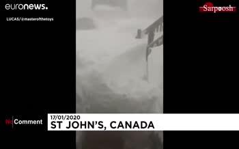 فیلم/ دیوارهای برفی در شرق کانادا زندگی را مختل کرد