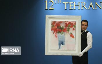 تصاویر دوازدهمین حراج تهران,عکس های حراجی آثار هنری,تصاویر دوازدهمین حراج آثار هنری