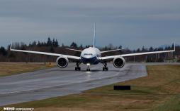تصاویر پرواز آزمایشی بوئینگ ۷۷۷,عکس های پرواز آزمایشی بوئینگ ۷۷۷,تصاویر بزرگترین هواپیمای دو موتوره جهان