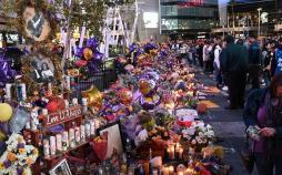 تصاویر مراسم کوبی برایانت,عکس های مراسم یادبود برای کوبی برایانت,تصاویر گرامیداشت کوبی برایانت
