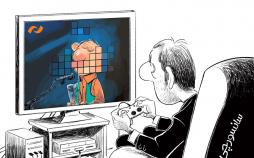کارتون پخش زنده جشنواره توسط تلویزیون,کاریکاتور,عکس کاریکاتور,کاریکاتور هنرمندان