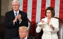 تصاویر سخنرانی جنجالی ترامپ در کنگره,عکس های دونالد ترامپ,تصاویر رئیس جمهور آمریکا