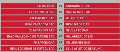 مراسم قرعهکشی جام حذفی اسپانیا,اخبار فوتبال,خبرهای فوتبال,اخبار فوتبال جهان
