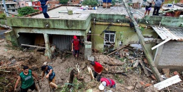 سیل در استان میناس گرایس برزیل,اخبار حوادث,خبرهای حوادث,حوادث طبیعی