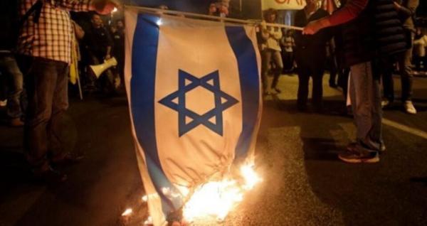 آتش زدن پرچم اسرائیل در بحرین,اخبار سیاسی,خبرهای سیاسی,خاورمیانه