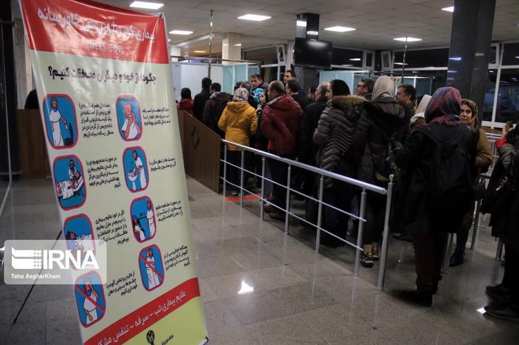 تصاویر کنترل ویروس کرونا در فرودگاه ارومیه,عکس های فرودگاه ارومیه,تصاویر جلوگیری از ورود ویروس کرونا