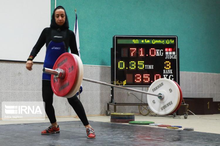 تصاویر رقابتهای وزنهبرداری بانوان اصفهان,عکس های رقابتهای وزنهبرداری بانوان اصفهان,تصاویر حضور بانوان در رقابتهای وزنهبرداری