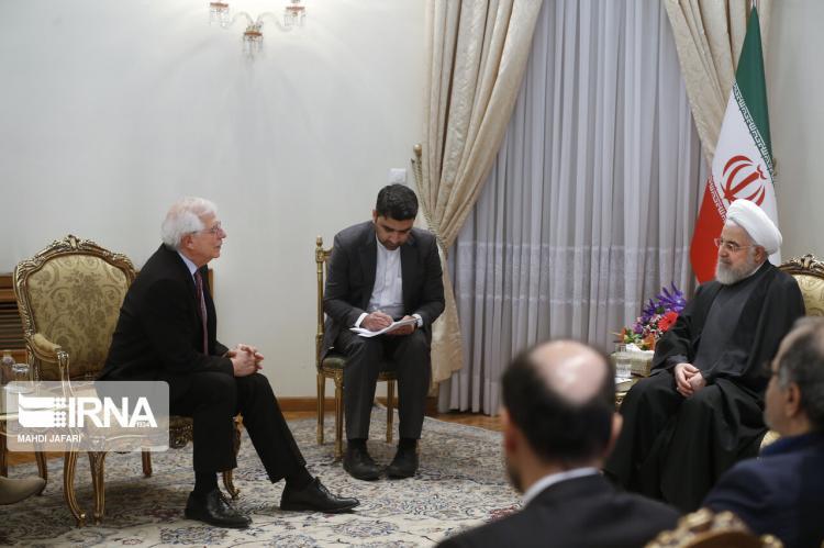 تصاویر دیدار جوسپ بورل و حسن روحانی,عکس های جوسپ بورل و حسن روحانی,تصاویر هماهنگ کننده عالی سیاست خارجی اتحادیه اروپا