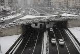 بارش برف در محورهای شمالی تهران,اخبار اجتماعی,خبرهای اجتماعی,وضعیت ترافیک و آب و هوا