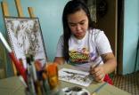 نقاشی با استفاده از خاکستر آتشفشان,اخبار جالب,خبرهای جالب,خواندنی ها و دیدنی ها