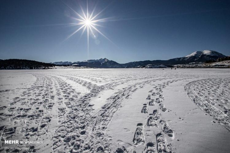 تصاویر هنر قدم زدن روی برف,عکس های هنر قدم زدن روی برف,تصاویر آثار هنری زیبا روی برف