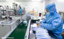 تصاویر کارخانه تولید ماسک در چین,عکس های کارخانه تولید ماسک در چین,تصاویر شیوع ویروس کرونا در چین