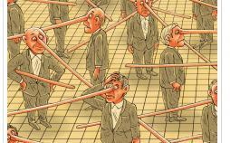 کاریکاتور ترویج دروغگویی در کشور,کاریکاتور,عکس کاریکاتور,کاریکاتور اجتماعی