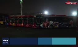 فیلم/ ضدعفونی کردن اتوبوسهای تهران در پی شیوع ویروس کرونا