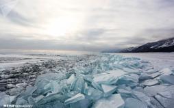 تصاویر دریاچه یخ زده بایکال,عکس های دریاچه یخ زده بایکال,تصاویر هفتمین دریاچه بزرگ جهان