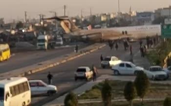 ویدئو جدید از حادثه خروج هواپیمای شرکت کاسپین از باند در ماهشهر