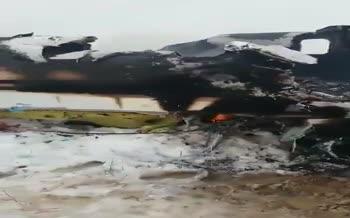 نخستین فیلم منتشر شده از هواپیمای ساقط شده در غزنی افغانستان