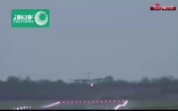 فیلم/ جدال هواپیماها در فرودگاه بیرمنگام با طوفان سیارا