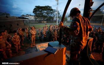 تصاویر رزمایش نیروهای چترباز در کلمبیا,عکس های رزمایش نیروهای چترباز,تصاویر رزمایش نظامی در کلمبیا