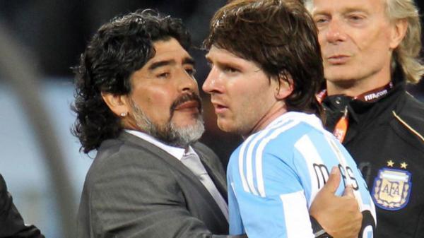 مارادونا و مسی,اخبار فوتبال,خبرهای فوتبال,لیگ قهرمانان اروپا