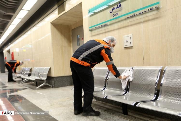 تصاویر ضدعفونی قطارهای مترو اصفهان,عکس های ضدعفونی قطارهای مترو اصفهان,تصاویر راه های پیشگیری از شیوع ویروس کرونا