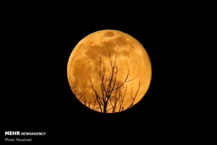 تصاویر ابر ماه,عکس های زیبایی از ابرماه,عکس های نزدیک ترین فاصله ماه با زمین