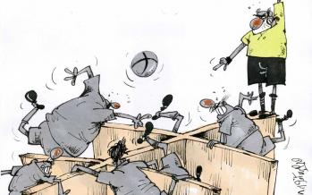 کاریکاتور ویروس کرونا در فوتبال ایران,کاریکاتور,عکس کاریکاتور,کاریکاتور ورزشی