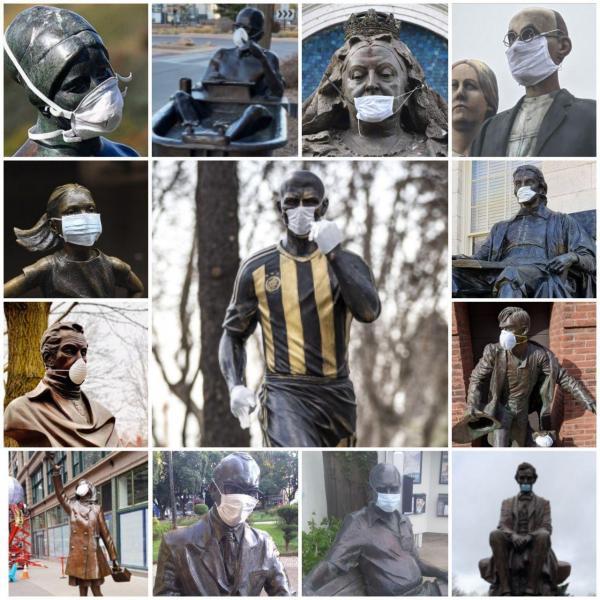مجسمههای جهان در کوران کرونا