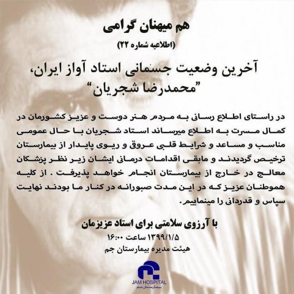 محمد رضا شجریان,اخبار هنرمندان,خبرهای هنرمندان,موسیقی