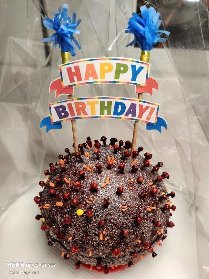 تصاویر کیک ها به شکل کرونا,عکس های دیدنی,تصاویر جالب از پخت کیک و شیرینی