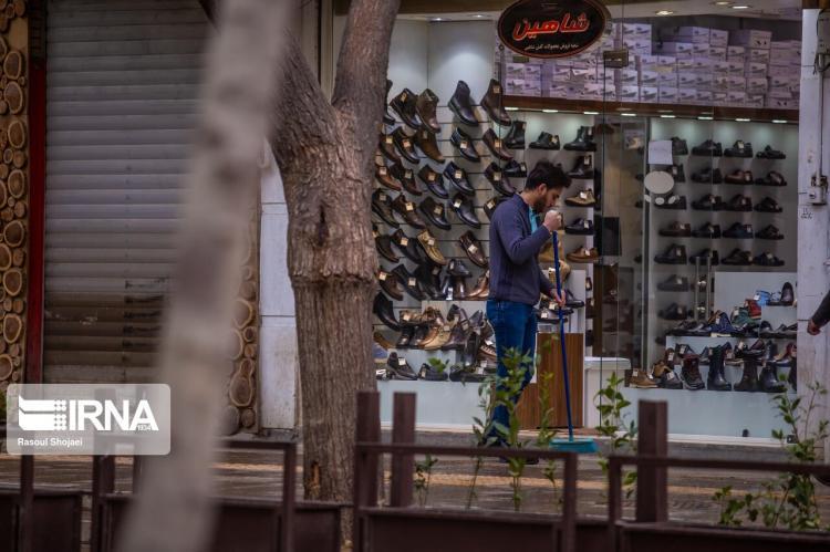 تصاویر چهارباغ اصفهان زیر سایه کرونا,عکس های چهارباغ اصفهان,تصاویری از چهارباغ اصفهان در روزهای کرونایی