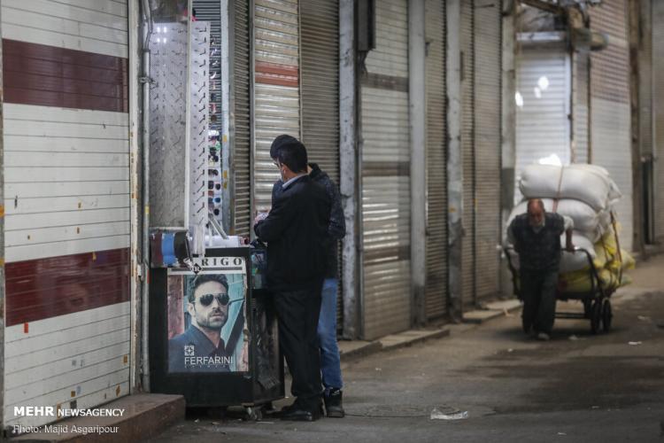 تصاویر بازار تهران شنبه ۳۰ فروردین 99,عکس های بازار تهران شنبه ۳۰ فروردین 99,تصاویر بازگشایی برخی اصناف در تهران