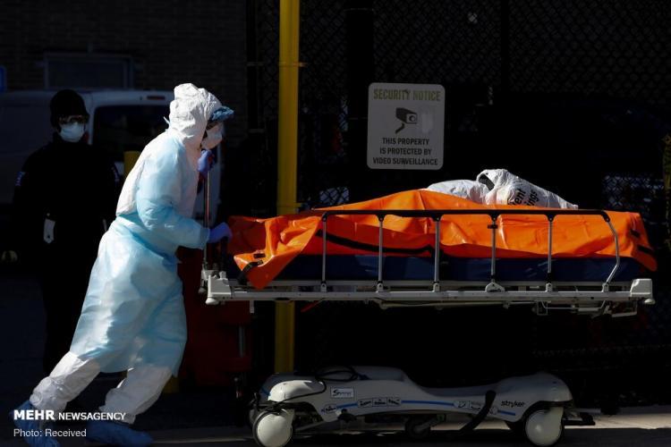 تصاویر متوفیان کرونا در بیمارستان های آمریکا,عکس های متوفیان کرونا در بیمارستان های آمریکا,تصاویر بیمارستان های آمریکا