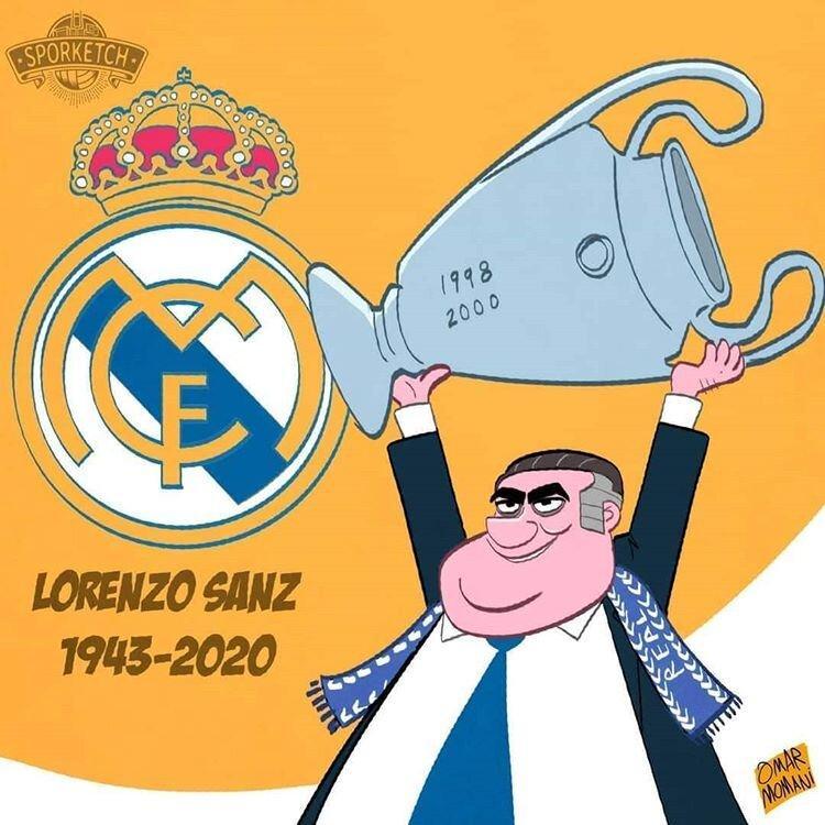 کاریکاتور در مورد مرگ رئیس سابق رئال مادرید به دلیل کرونا,کاریکاتور,عکس کاریکاتور,کاریکاتور ورزشی