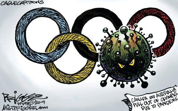 کاریکاتور در مورد لغو المپیک 2020,کاریکاتور,عکس کاریکاتور,کاریکاتور ورزشی